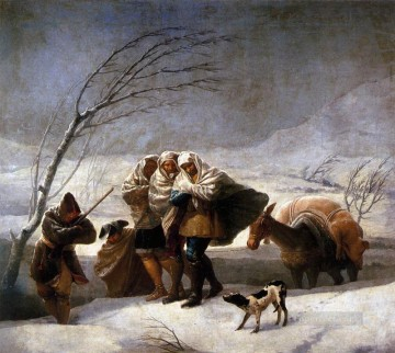 romantic romantism Painting - The Snowstorm Romantic modern Francisco Goya