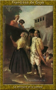 Francisco Goya Painting - The military and senora Francisco de Goya