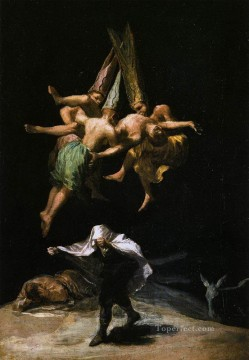 romantic romantism Painting - Witches in the Air Romantic modern Francisco Goya