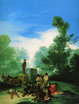 Goya Oil Painting - Highwaymen Attacking a Coach Francisco de Goya