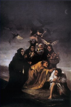 Goya Oil Painting - Incantation Francisco de Goya