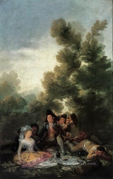 Picnic Romantic modern Francisco Goya Oil Paintings