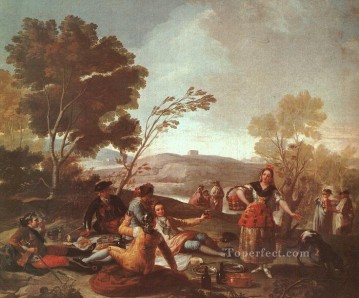 Picnic on the Banks of the Manzanares Romantic modern Francisco Goya Oil Paintings