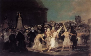 Goya Oil Painting - Procession of Flagellants Francisco de Goya