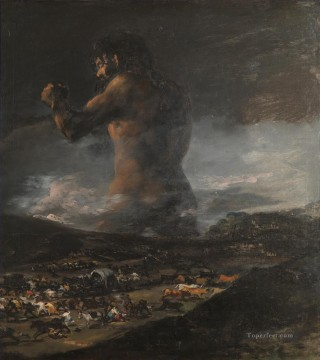 Francisco Goya Painting - The Colossus Francisco de Goya