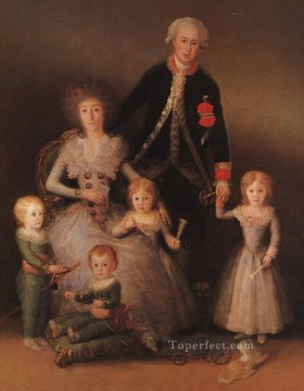 Francisco Goya Painting - The Duke and Duchess of Osuna and their Children portrait Francisco Goya