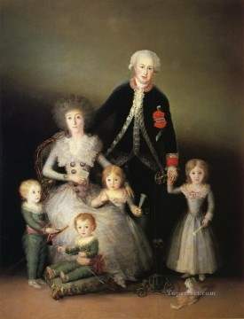 The Duke of Osuna and his Family Francisco de Goya Oil Paintings