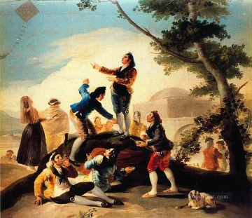 Goya Oil Painting - The Kite Francisco de Goya