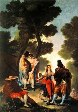 Francisco Goya Painting - The Maja and the Masked Men Francisco de Goya