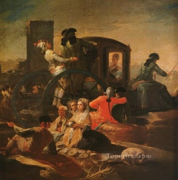 The Pottery Vendor Romantic modern Francisco Goya Oil Paintings