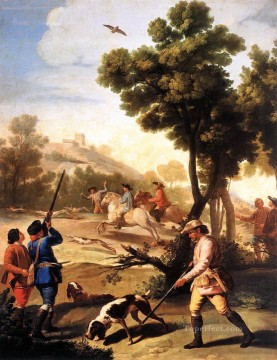 The Quail Shoot Romantic modern Francisco Goya Oil Paintings