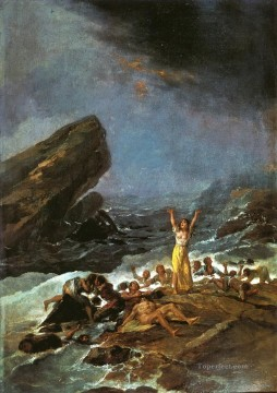 Goya Oil Painting - The Shipwreck Francisco de Goya