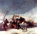 The Snowstorm Francisco de Goya