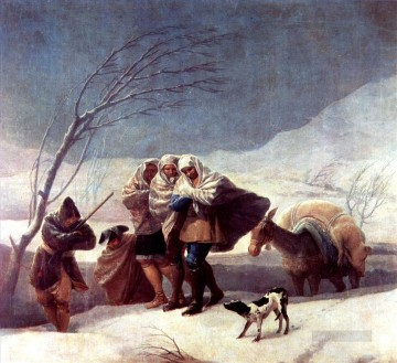 Francisco Goya Painting - The Snowstorm Francisco de Goya