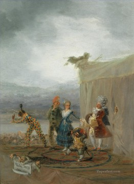 Francisco Goya Painting - The Strolling Players Francisco de Goya