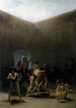 Francisco Goya Painting - The Yard of a Madhouse Francisco de Goya