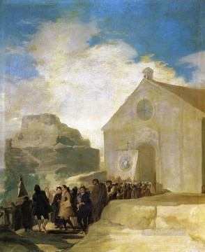 Goya Oil Painting - Village Procession Francisco de Goya