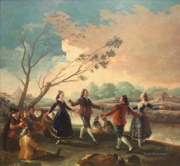 Francisco Goya Painting - Dance of the Majos at the Banks of Manzanares Francisco de Goya