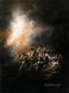 romantic romantism Painting - Fire at Night Romantic modern Francisco Goya