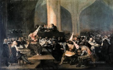 Goya Oil Painting - Inquisition Scene Francisco de Goya