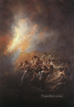 The Fire Romantic modern Francisco Goya Oil Paintings