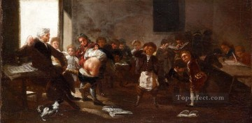 Francisco Goya Painting - The school scene Francisco de Goya