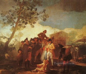 Blind Man Playing the Guitar Romantic modern Francisco Goya Oil Paintings