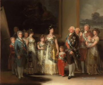 Spain Oil Painting - Charles IV of Spain and his family Francisco de Goya
