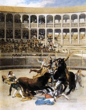 romantic romantism Painting - Picador Caught by the Bull Romantic modern Francisco Goya