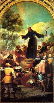 Francisco Goya Painting - St Bernardino of Siena preaching to Alfonso V of Aragon Francisco de Goya