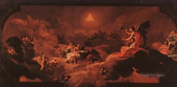 Goya Oil Painting - The Adoration of the Name of The Lord Francisco de Goya
