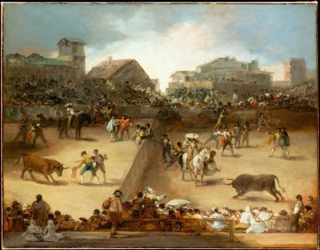 cattle bull cow Painting - The Bullfight Francisco de Goya