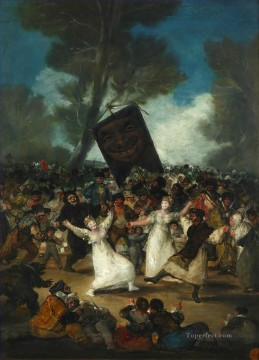 romantic romantism Painting - The Burial of the Sardine Romantic modern Francisco Goya