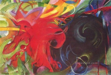 Kaempfende Formen Franz Marc Oil Paintings