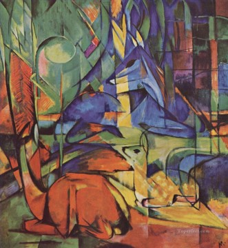 Reheim Walde II Franz Marc Oil Paintings
