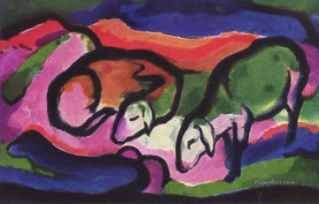 Schafe Franz Marc Oil Paintings