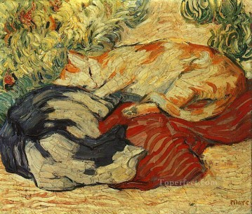 Franz Marc Painting - Catsona Red Cloth Franz Marc