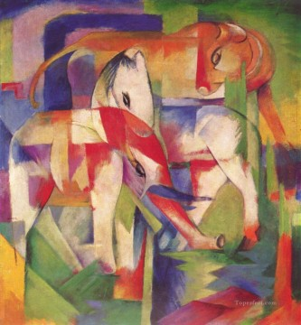 Franz Marc Painting - Elefant Pferd Rind Winter Franz Marc