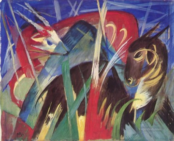 Fabeltiere I Franz Marc Oil Paintings