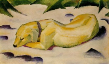 Hundim Schneeliegend Franz Marc Oil Paintings