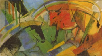 Rinder Franz Marc Oil Paintings