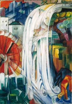 Franz Marc Painting - The Bewitched Mill Franz Marc