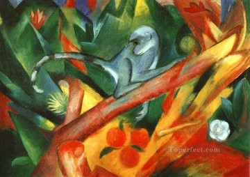 Franz Marc Painting - The Monkey Franz Marc