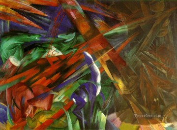 Franz Marc Painting - The fate of the animals Franz Marc