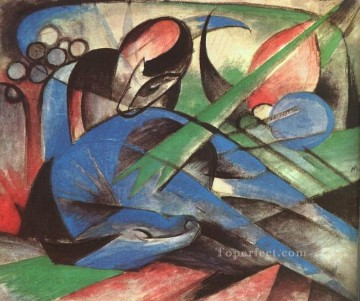Traumendes Pferd Franz Marc Oil Paintings