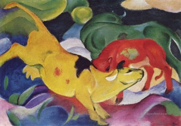 Kuherotgrungelb Franz Marc Oil Paintings