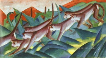 Franz Marc Painting - Monkey Frieze Franz Marc