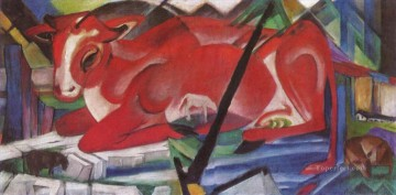Franz Marc Painting - The World Cow Franz Marc