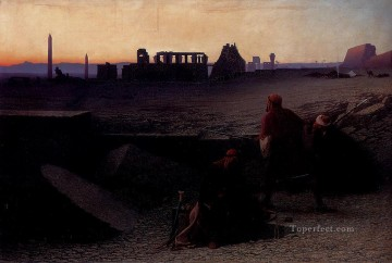 Charles Theodore Frere Painting - Ruines De Thebes Arabian Orientalist Charles Theodore Frere