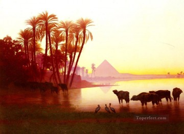 Along The Nile scenery Charles Theodore Frere Oil Paintings